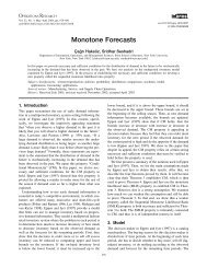 Monotone Forecasts - CiteSeerX