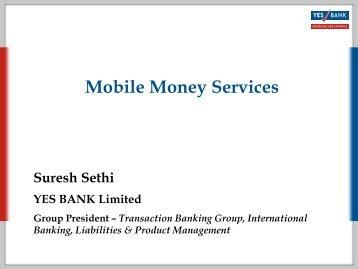 Yes Bank prospective - Mobile Money Global Gateway