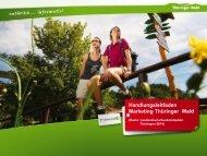Marketingleitlinien - Thüringer Wald