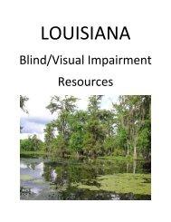 Louisiana Blind/Visual Impairment Resources