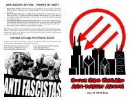 ANTI-RACIST ACTION POINTS OF UNITY July 31 ... - Zine Library
