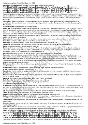 link PDF - Kulturdenkmalhaus - Umgebindehaus von 1587
