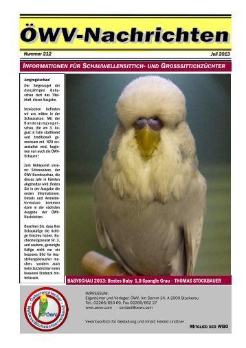 ÖWV Nachrichten 212/ Juli 2013