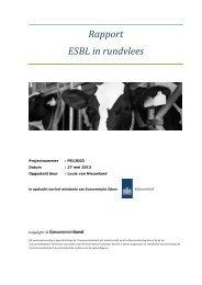 Rapport ESBL in rundvlees - Rijksoverheid.nl