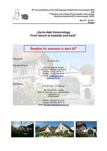 Einladung Ittingen 20.-22.05.2011 - Gesellschaft für Kinder- und ...