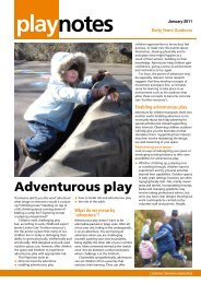 Adventurous Outdoor Play - Learning through Landscapes