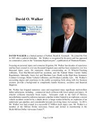 David O. Walker - Neblett, Beard & Arsenault