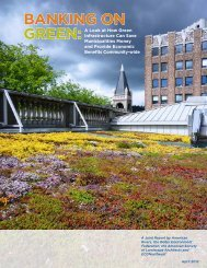 Banking on Green report - American Rivers