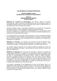 Ley de Bancos y Grupos Financieros - Felaban
