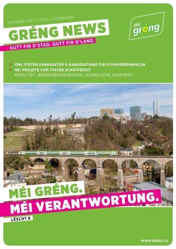 Flyer déi gréng Stad Lëtzebuerg / Oktober 2013 > hei downloaden