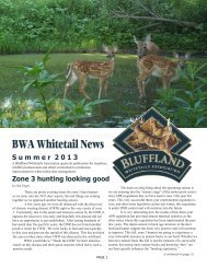 Summer 2013 Newsletter - Bluffland Whitetails Association