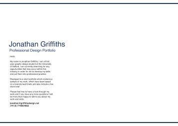 Portfolio - Jonathan Griffiths | Graphic Designer