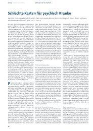 Schlechte Karten für psychisch Kranke (Asmus Finzen) - DGSP