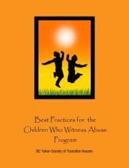 Best Practices for the Children Who Witness Abuse Program