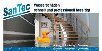Wasserschäden schnell und professionell beseitigt - SanTec