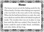 The horno (oven) served the baking needs for the ... - City Of Ventura
