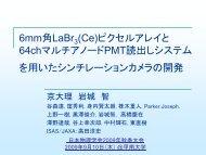 6mm角LaBr3(Ce)ピクセルアレイと64chマルチアノードPMT読出し ...