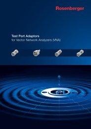 for Vector Network Analyzers (VNA) Test Port Adaptors - Rosenberger