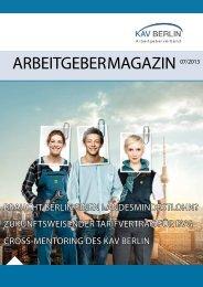 Arbeitgeber-Magazin Ausgabe 07/2013 - KAV Berlin