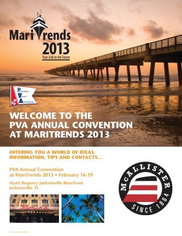 the pva annual convention at maritrends 2013 - Passenger Vessel ...