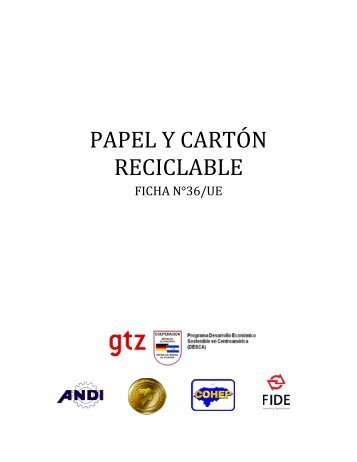 PAPEL Y CARTÓN RECICLABLE