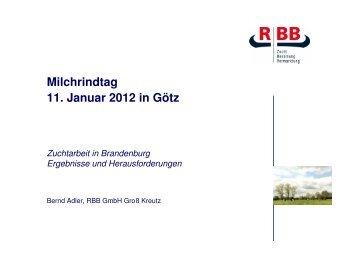 Zuchtarbeit in Brandenburg - Ergebnisse und Herausforderungen