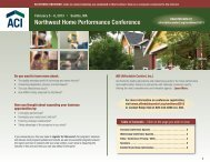 Northwest Home Performance Conference - Affordable Comfort Inc