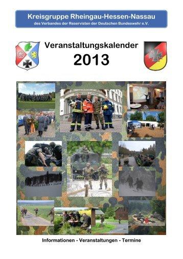 Jahresplanung 2013 - Untere Aar