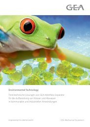 Environmental Technology - GEA Westfalia Separator Group