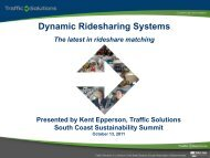 Dynamic Ridesharing - UCSB Sustainability