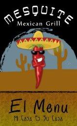 Mesquite Mexican Grill Menu - Impressions of Colorado