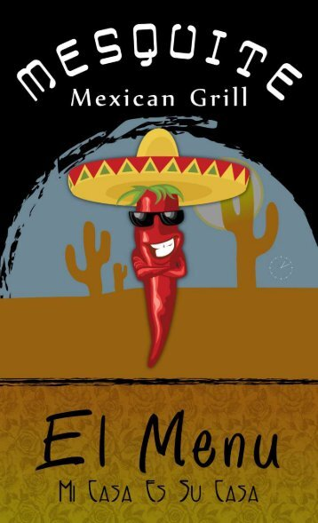 Mesquite Mexican Grill Menu - Impressions of Colorado
