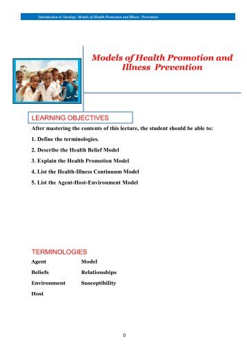 Models of Health Promotion and Illness Prevention