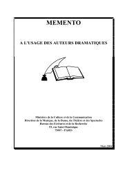 Mémento à l'usage des auteurs dramatiques - Agence Régionale du ...