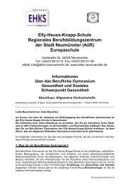 Informationen über das Berufliche Gymnasium Gesundheit und ...