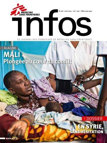 MSF Infos Avril 2013 - Médecins Sans Frontières