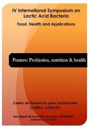 Posters: Probiotics, nutrition & health - Centro de Referencia para ...