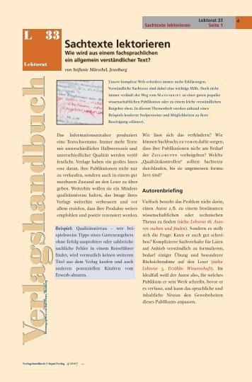 Sachtexte lektorieren - Lektorat WORTGEWANDT, Stéfanie Märschel