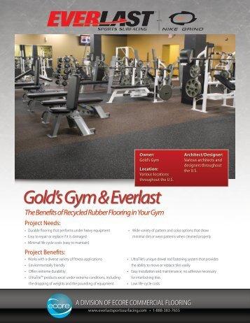 Gold's Gym & Everlast - Everlast Fitness Flooring