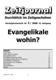 Evangelikale - wohin? - Dr. Lothar Gassmann