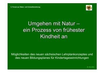Umgehen mit Natur – ein Prozess von frühester ... - Schulgarten