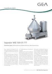 Separator MSE 500-01-777 - GEA Westfalia Separator Group