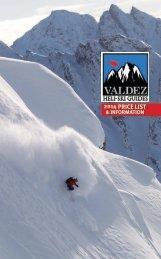 2014 PRICE LIST - Valdez Heli-Ski Guides