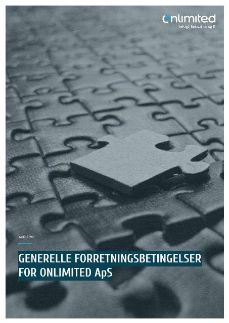 GENERELLE FORRETNINGSBETINGELSER FOR ONLIMITED ApS