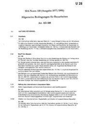 SIA-Norm 118 (Ausgabe 1977/1991) gemeine Bedingungen ~ür ...