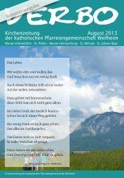 Sommerausgabe - Katholische Pfarreiengemeinschaft Weilheim