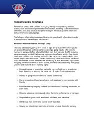 parents guide to gangs - Greenville Police Department - City of ...