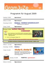 Programm für August 2009 Shake it, shake it! - Grambach