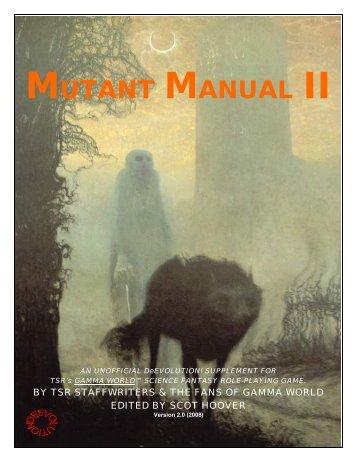 MUTANT MANUAL II - Kellri