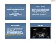 Interactive Tumor Board